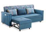 3つのシートはChaiseのソファーベッドのホーム食事の家具、ファブリックソファーセットに角を付ける
