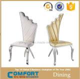 Moderne het Dineren van het Leer van de Luxe Comfortabele Witte Stoel