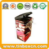 Cuadrado del metal de la lata poder de café para la Alimentación caja de la lata de embalaje