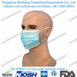 Respirador no tejido disponible Qk-FM001 de la mascarilla de la alta calidad 3ply Earloop Bfe99
