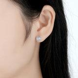 Schmucksache-Sterlingsilber-Ohrringe der CZ-Steininner-Form-S925