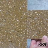 Панель стены камня смолаы Kingkonree белая доработанная твердая поверхностная