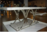 Het moderne Eigentijdse Vastgestelde Meubilair van de Eettafel van het Glas