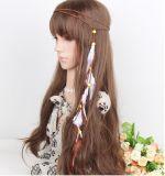 Fasce Pendant della fascia dei capelli della piuma della fascia della piuma tessute velluto coreano per gli accessori dei capelli delle ragazze delle donne