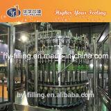 La botella de cristal carbonatada bebe la máquina de rellenar