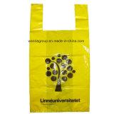 Изготовленный на заказ оптовая Biodegradable Compostable напечатанная пластичная розничная бакалея тенниски ручки тельняшки носит хозяйственную сумку