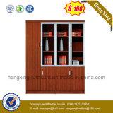 Glace de qualité et classeur en bois de bibliothèque de bureau (HX-4FL003)