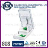 Divisore di plastica trasparente della casella della pillola di Customzied di marchio con Keychain