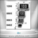 SMD 저항기, 금속 필름 저항기, 탄소 필름 저항기, 0201 0402 0603 0805 1206 1210 2512 etc. 크기