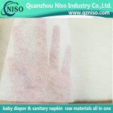2017 Nonwoven perfurados macios super de Spunbond para o tecido Topsheet do bebê