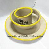 Enamelware 테이블 차잔 고정되는 사기질 접시 야영 컵 주석 철 사발