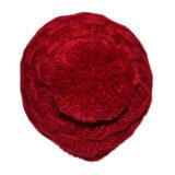 Le donne hanno lavorato a maglia le protezioni del Beanie del jacquard di inverno con grande POM POM