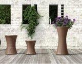 3 Stücke Rattan-Blumen-Potenziometer gesetzte PET Rattan-Möbel-
