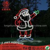 新しいLEDのクリスマスの庭の装飾のサンタクロースロープライトモチーフの装飾的なライト