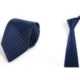 Relation étroite maigre de collet de polyester de Mens tissée par coutume italienne fabriquée à la main