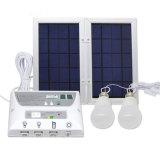 De Uitrusting van het Systeem van de Verlichting van het Huis van de zonneMacht met de Lamp van 2 Bol