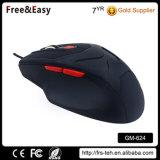 Schwarze Gummibeschichtung-optische Laptop-Spiel-Maus