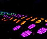 庭のための新しい防水DMX 14X18W RGBWA+UV屋外LEDの同価