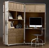 Mobilier de bureau à domicile Bibliothèque d'aluminium antique, Cabinet de livre, Secrétaire Cabinet de-003