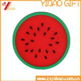 Stuoia su ordinazione della tazza del cofano della stuoia/silicone della tazza di tè del silicone di figura della frutta