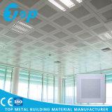 Plafond en aluminium clip perforé blanc de 60 * de 60 cm dans la configuration dedans