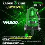 Vigas verdes 2V1h del trazador de líneas 3 del laser Vh800 con los puntos verticales rojos