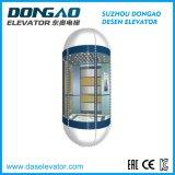 Ascenseur panoramique guidé d'observation en verre de bonne qualité avec le dispositif de Vvvf