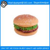 La masticación de caucho natural juguete hamburguesa para los animales domésticos