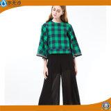 공장 셔츠가 도매 여자 면 블라우스 형식에 의하여 꼭대기에 오른다