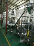 Geneigte Schrauben-Förderanlage mit vibrierendem Zufuhrbehälter