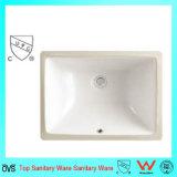 現代普及した低価格の浴室の洗浄手の陶磁器の下の反対の洗面器
