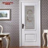 Дверь ванной комнаты классицистической краски конструкции белой деревянная (GSP3-052)