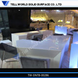 Tableau dinant commercial blanc de modèle moderne, table basse, Tableau de restaurant
