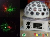 (3Wx5PCS RGBWP) +Laser (R100MW-G50MW) LED Laser 샤워 빛 소형 Laser 디스코 빛