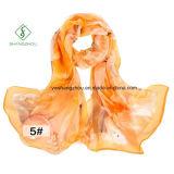 2017 neuester Seide-Schal der Dame-Fashion 100% mit gedrucktem Schal