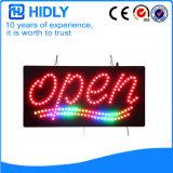 Hidly Viereck das geöffnete Zeichen Asien-LED