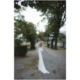2017 платье венчания Trumpet Mermaid/втулок роскошного и грациозно шнурка длиннее (Dream-100101)