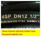 Boyau en caoutchouc flexible de pétrole de boyau à haute pression spiralé de pétrole