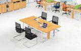 Moderna mesa de madera Oficina de formación de mesa con la pierna de metal