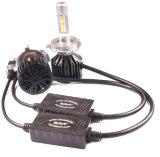 Bulbos do farol da recolocação do diodo emissor de luz dos auto acessórios H4 com projeto do ventilador
