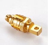 Pieza de cobre amarillo del CNC de la máquina del ranurador del CNC del OEM para la herramienta de máquina