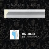 Corniche de polyuréthane de décoration de plafond d'unité centrale moulant Hn-8603