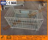 Cage de palette de maille de fil d'acier pour la mémoire d'entrepôt avec des chasses