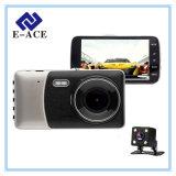 Lente de câmera dois carro DVR do gravador de vídeo da came do traço de 4.0 polegadas auto
