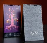 Impression couleur de haute qualité Wire O Calendriers avec blocs-notes