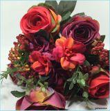 가정 훈장 Mariage를 위한 인공적인 가짜 로즈가 실크에 의하여 꽃이 핀다