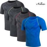 Maglietta Dt0854 dei vestiti di ginnastica di usura di forma fisica di compressione degli uomini di Neleus