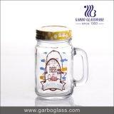 Mutil-Farbe 450ml Glasmaurer-Glas mit Stroh