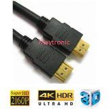Enchufe plateado oro 2160p para el cable de HDMI con Ethernet