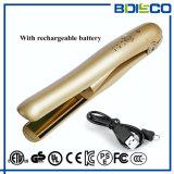 旅行使用の携帯用小型平らな鉄電池の再充電可能な毛のストレートナ